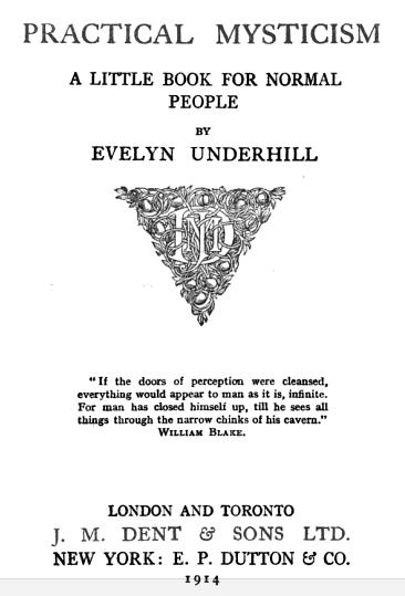 Practical Mysticism Underhill